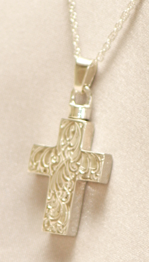 Etched Cross Pendant